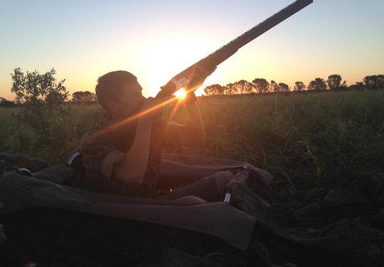 Wing Shooting Sunset aim